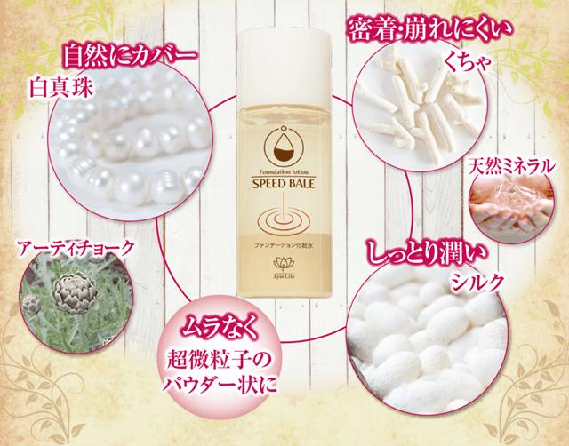 天然成分をバランス配合アーティチョーク、シルク、天然ミネラル、白真珠